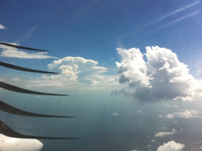 typical flying day over the bahamas