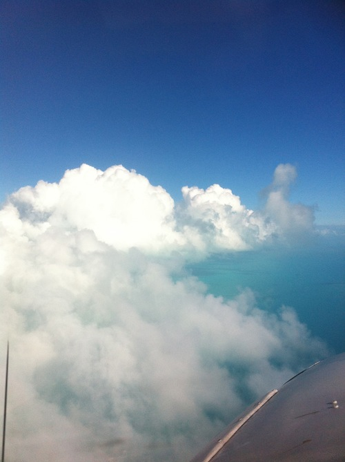 On cloud nine heading to Exuma