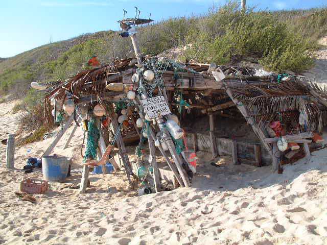 Surfers Beach, Eleuthera -  surfers beach shack